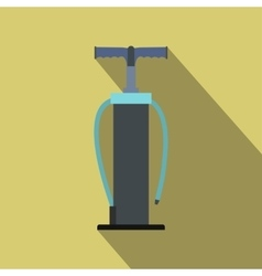 Hand pump flat icon with shadow vector