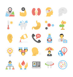 healthcare and fitness icons set vector image