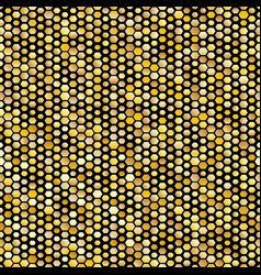 hexagon golden seamless pattern vector image