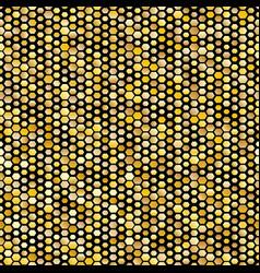 Hexagon golden seamless pattern vector