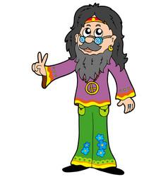 Hippie guru vector