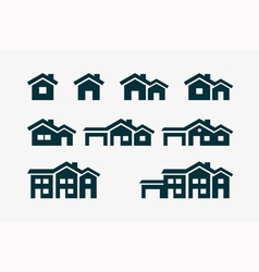 House Icon Set vector