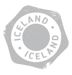 Iceland stamp rubber grunge vector