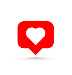 icon heart like social network white background vector image