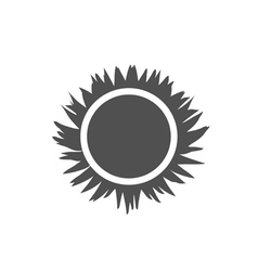 Icon sun solar beams vector