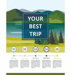 Infographic layers of mountain landscape vector