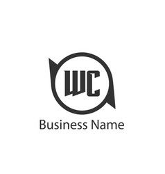 Initial letter wc logo template design vector