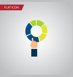 Isolated segment flat icon pie bar element vector