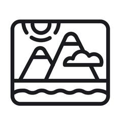 landscape nature logo vector image