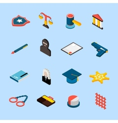 Law Icons Isometric vector image