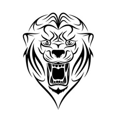 lion 4 vector image