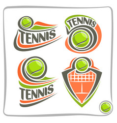 logo lawn tennis ball vector image