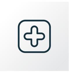 medicine icon line symbol premium quality vector image