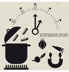 Mediterranean cuisine vector