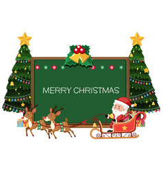 merry christmas blackboard card vector image