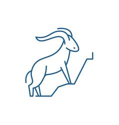 Mountain goat line icon concept mountain goat vector