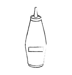 mustard in bottle vector image