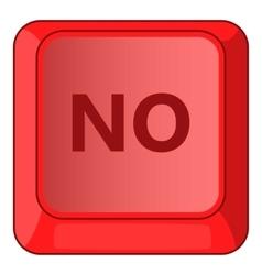 No red button icon cartoon style vector