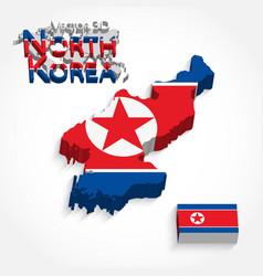 north korea 3d vector image