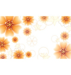 Orange flowers design2 vector