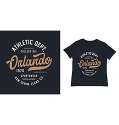 orlando varsity style t shirt design vector image