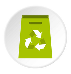 package recycling icon circle vector image