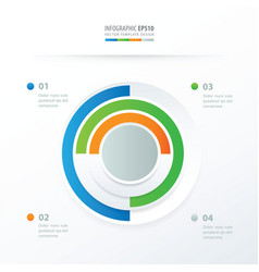 Pie chart infographics blue green orange gray vector