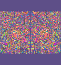 Psychedelic creative colorful symmetrical pattern vector
