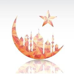 Ramadan greeting card design element vector image