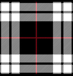 Red black and white tartan plaid seamless pattern vector