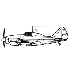 reggiane re2001 falco 2 vector image