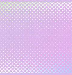 retro gradient heart pattern background design vector image