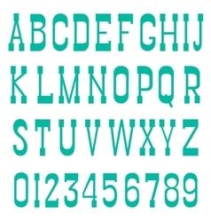 Serif font green vector
