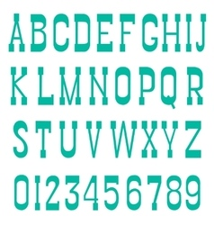 Serif font green vector image