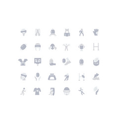 set simple icons rugby vector image