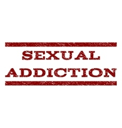 Sexual addiction watermark stamp vector