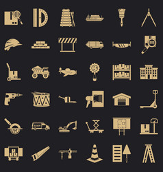 Shipping land icons set simple style vector