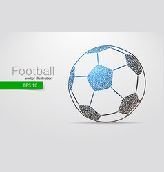 silhouette of a soccer ball from triangles vector image
