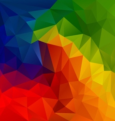 spectrum color full rainbow polygon triangular vector image