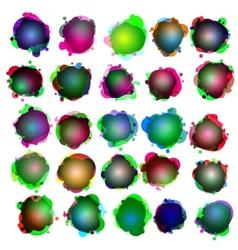 Speech bubbles icon set vector