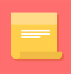 Sticky note icon in a flat style vector