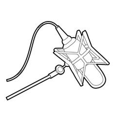 Studio retro microphone icon outline style vector
