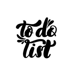 to do list lettering greeting vector image