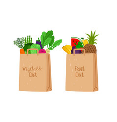 vegan eco shopping bags vector image