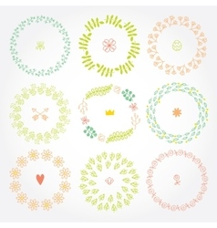 Versatile wreaths Spring ornament for decorating vector image