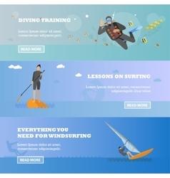 Water sport concept Horizontal banner vector