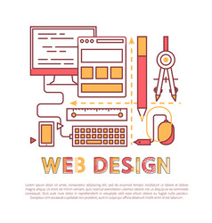 web design banner with development tools vector image