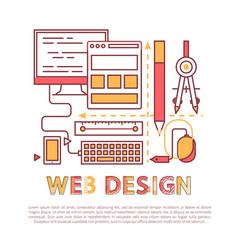 Web design banner with development tools vector