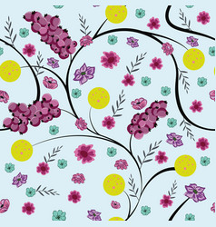 winter floral seamless pattern flowers vector image