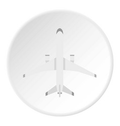 big plane icon circle vector image